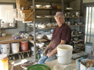 John in the glaze shop